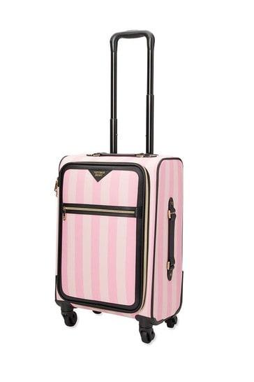 Victoria's Secret Signature Stripe Rolling Luggage