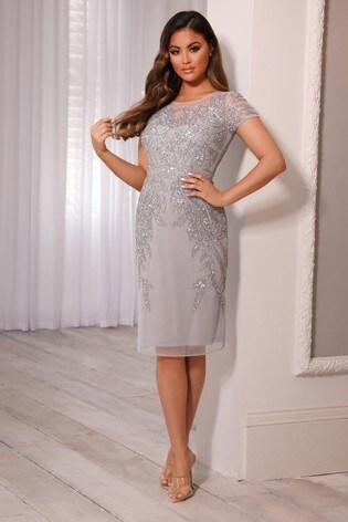 Sistaglam Embellsihed Midi Dress