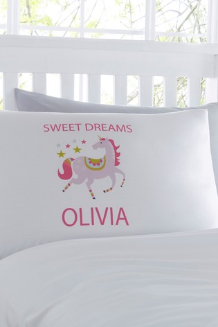 Personalised Unicorn Pillowcase By Gift Collective