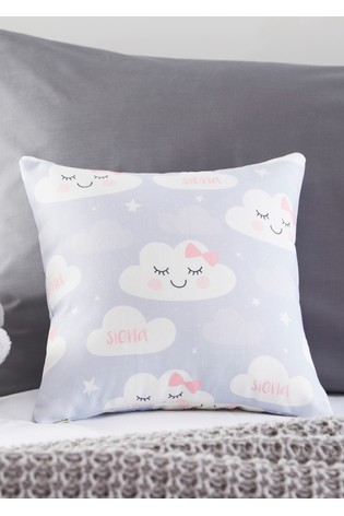 Personalised Cute Cloud Cushion By Gift Collective