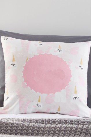 Personalised Pink Unicorn Cushion By Gift Collective