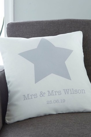 Personalised Couples Cushion By Gift Collective