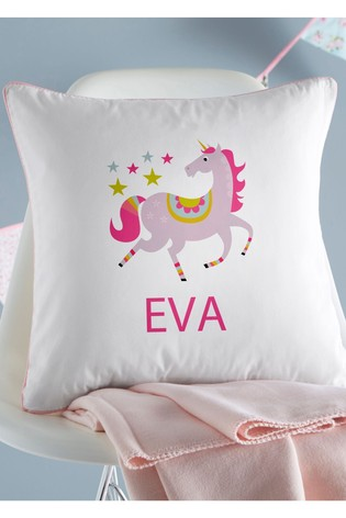 Personalised Unicorn Name Cushion By Gift Collective