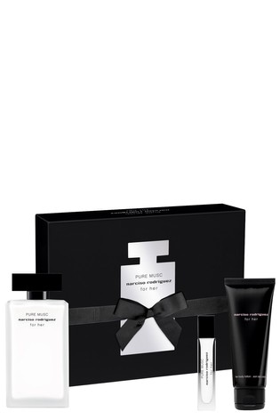 Narciso Rodriguez Pure Musc EDP 100ml and Body Lotion 75ml and Purse Spray 10ml Gift Set