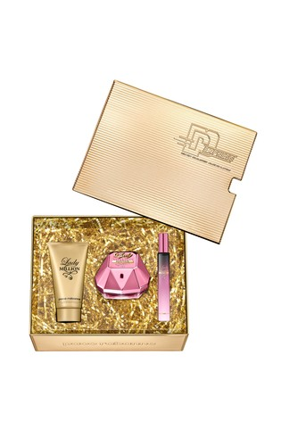 Paco Rabanne Lady Million Empire Eau De Parfum 50ml and Body Lotion 75ml and Travel Spray 10ml Gift Set