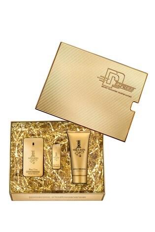 Paco Rabanne 1 Million Eau De Toilette 50ml and Shower Gel 100ml and Mini 5ml Gift Set