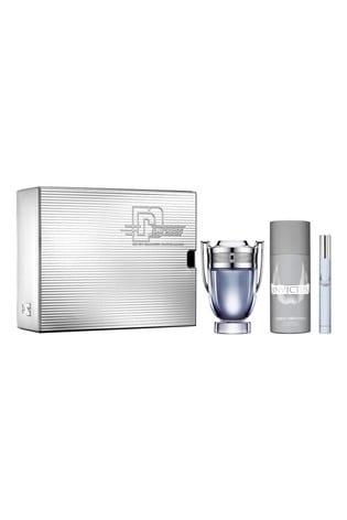 Paco Rabanne Invictus Eau De Toilette 100ml and Deodorant 150ml and Travel Spray 10ml Gift Set