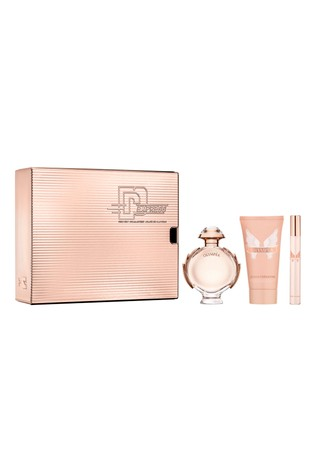 Paco Rabanne Olympea Eau De Parfum 50ml and Body Lotion 75ml and Travel Spray 10ml Gift Set
