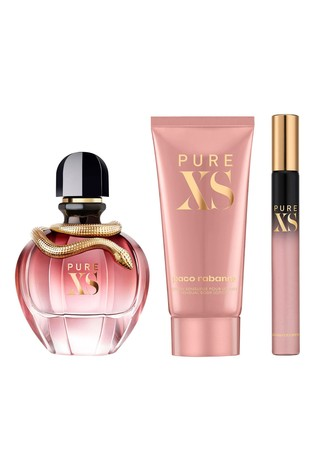 Paco Rabanne Pure XS For Her Eau De Parfum 80ml and Body Lotion 100ml and Travel Spray 10ml Gift Set