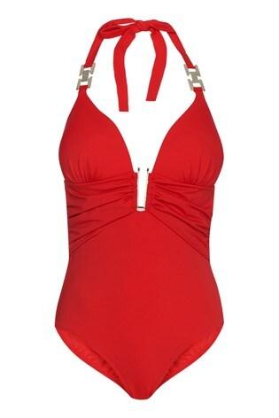 Abbey Clancy X Lipsy Red Hardwear Swimsuit