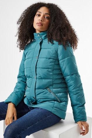Dorothy Perkins Short Length Hooded Padded Coat