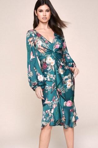Lipsy Petite Twist Front Midi Dress