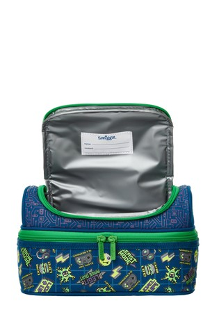 Smiggle Navy Express Double Decker Lunchbox