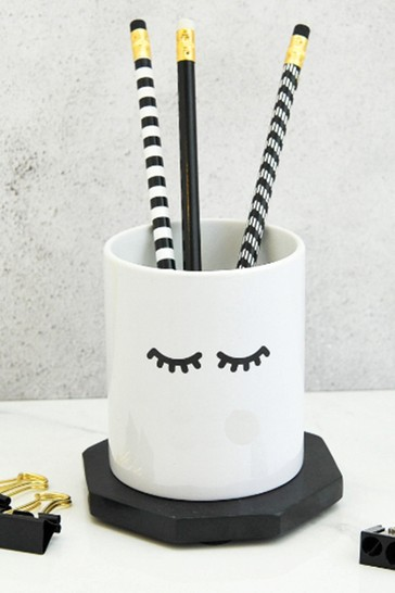 Personalised Eyelash Pen Pot By Gift Collective