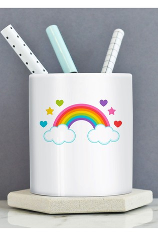 Personalised Rainbow Pen Pot By Gift Collective