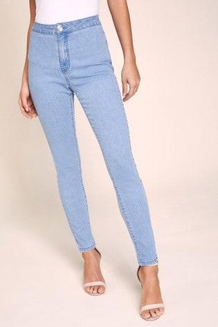 Lipsy Selena High Rise Regular Length Skinny Jeans