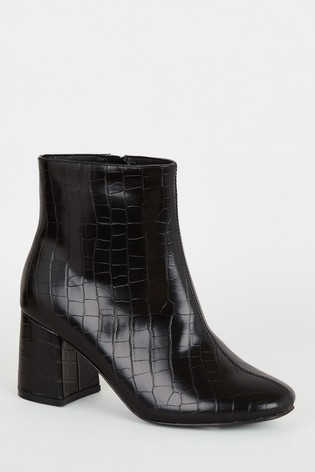 Buy New Look Wide Fit Faux Croc Flared
