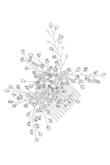 Jon Richard Bridal Clear Crystal Hazel Spring Hair Comb