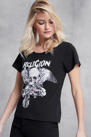 Religion Black Crowded Tee