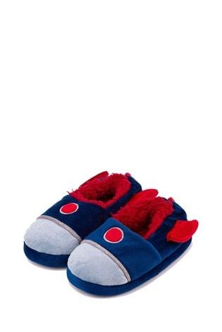 Totes Blue Kids Novelty Slipper