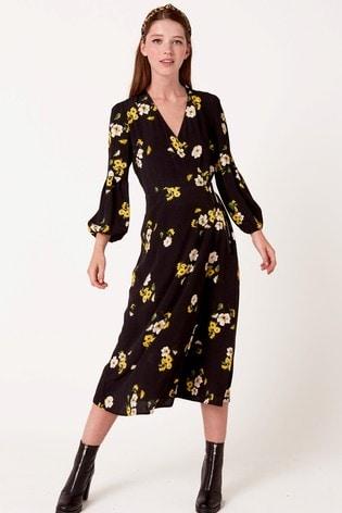 Nobody's Child Floral Midi Dress