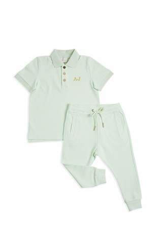 Personalised Mini Boys Short Top And Trouser Set By HA Designs