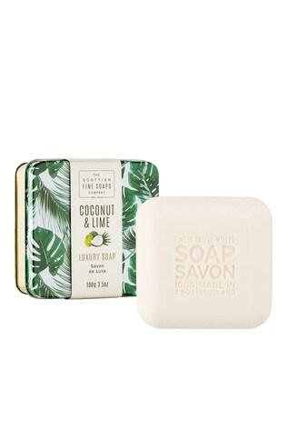 Scottish Fine Soaps Coconut & Lime Soap in a Tin 100g