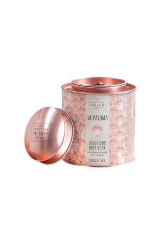 Scottish Fine Soaps La Paloma Luxurious Bath Soak 500g Tin