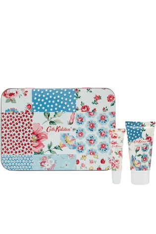 Cath Kidston Cottage Patchwork Hand and Lip Tin with Hand Cream and Lip Balm