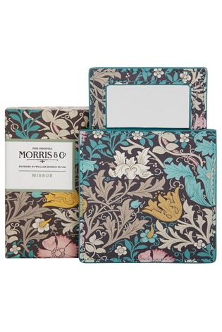 Morris & Co Pink Clay and Honeysuckle Mirror in Pouch