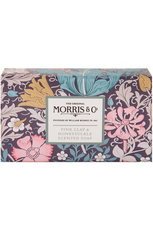 Morris & Co. Pink Clay and Honeysuckle Scented Soap