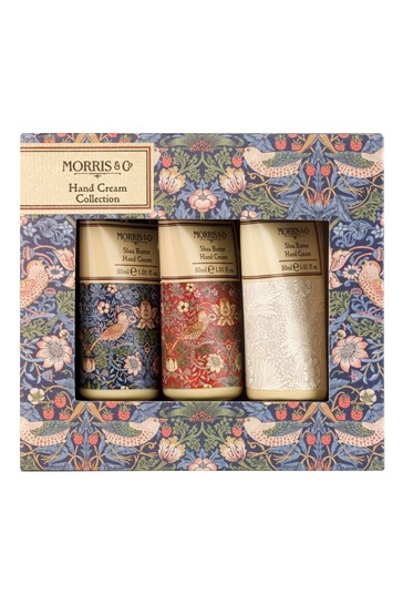 Morris & Co Strawberry Thief Shea Butter Hand Cream Collection Gift Set