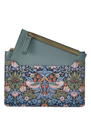 Morris & Co Strawberry Thief Travel Wallet and Coin Purse