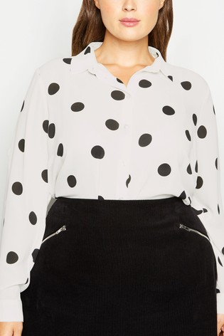 New Look Curve Spot Print Shirt