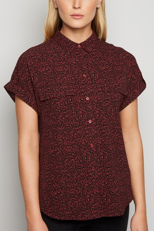 New Look Leopard Print Short Sleeve Shirt