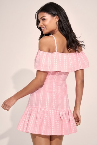 Lipsy Cold Shoulder Button Through Dress
