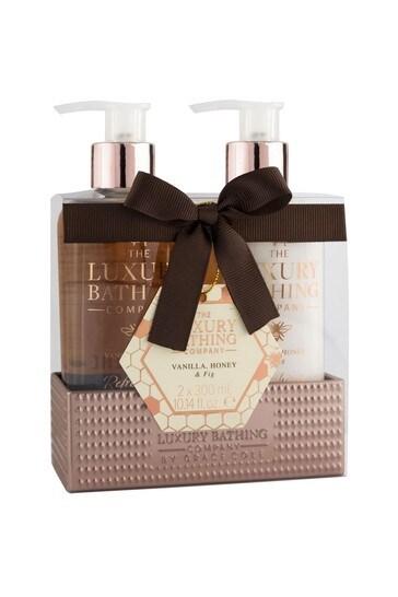 The Luxury Bathing Company Dream Duo - Beautiful Display Tin containing 300ml Hand Wash and 300ml Hand & Nail Cream