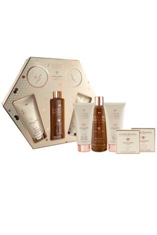 The Luxury Bathing Company All Things Beautiful - 150ml Body Wash, 150ml Body Cream, 250ml Foam Bath, 100g Soap and 80g Bath Caviar