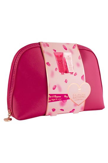 The Luxury Bathing Company Secret Escape - Luxury Cosmetics Bag, 100ml Body Wash, 100ml Body Cream, Body Polisher