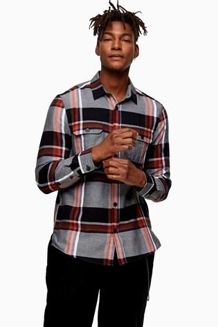 Topman Check Slim Shirt