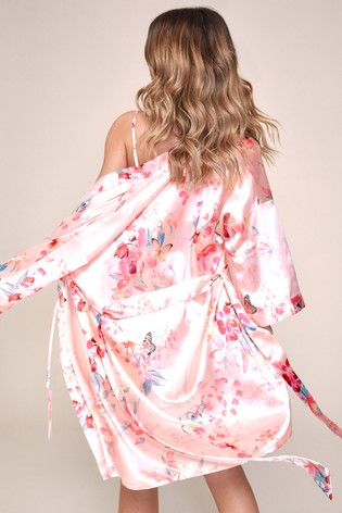 Lipsy Pink Satin Robe