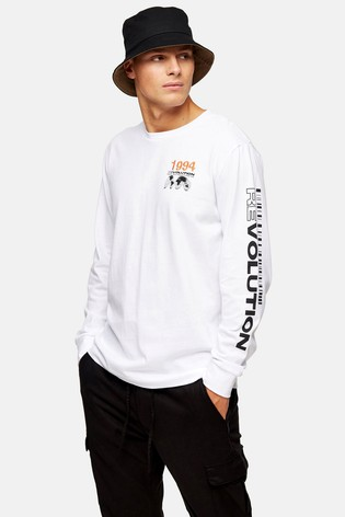 Topman Print Long Sleeve T-Shirt