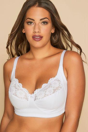 Yours White Curve Non Wired Cotton Bra
