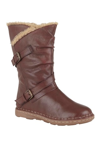 Lotus Calf Length Casual Boots