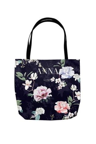 Personalised Lipsy Black Tote Bag by Instajunction