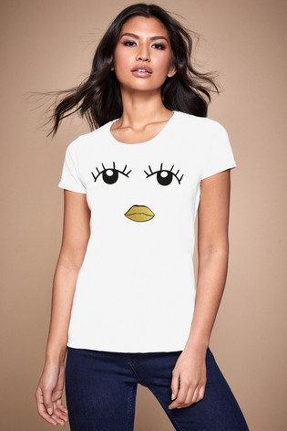 Personalised Lipsy Eyes Open Womens T-Shirt by Instajunction