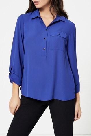 Dorothy Perkins Roll Sleeve Shirt