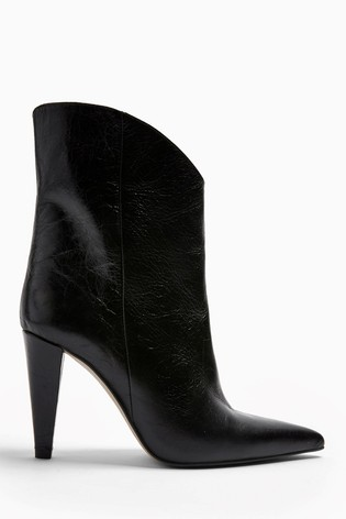 Topshop Havana Leather Boots