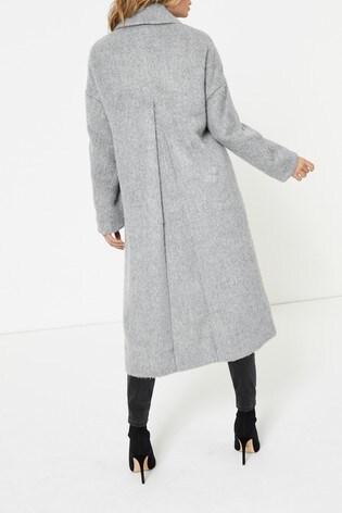 Topshop Grey Slouch Coat