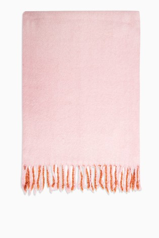 Topshop Pink Ombre Scarf